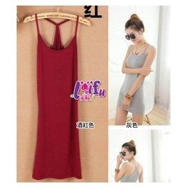 來福背心裙,H339背心裙純色好幫手打底裙背心衣小可愛,售價199元