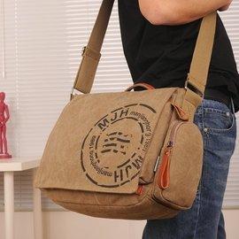 ~快樂購~帆布包 男包橫款布包手提包單肩包斜挎包旅行背包大容量可水洗 側背包 後背包 錢夾