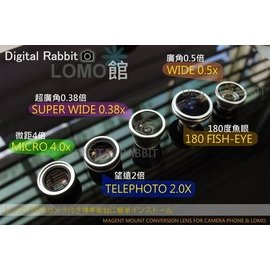 數位小兔 Digital King 180度 魚眼鏡頭 廣角鏡頭 手機相機 VQ1015 R2 ENTRY FDC01 5000T SQ30m VQ5090