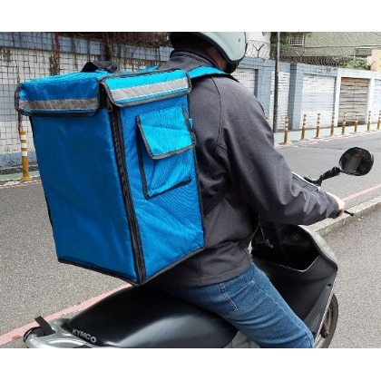 (HOHOBAG) 後背式(素面不印刷)雙肩後背外送保溫保冷袋 便當冷飲外送袋 機車外送箱 保冷袋 保溫袋