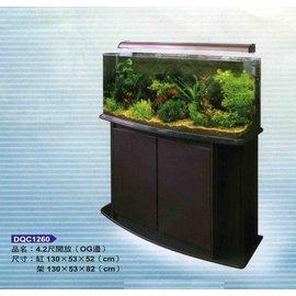 ^~台中水族^~ 4.2 尺海灣型強化缸 烤漆架