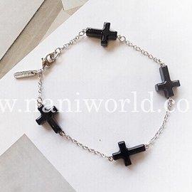 韓國 正品 女飾品AZNAVOUR亞克力十字架手環手鐲手鏈B01505