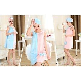 薄款可穿女性感抹胸浴裙加大加厚浴巾裹胸吸水睡裙