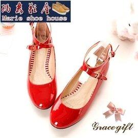 ~瑪麗鞋屋~大 女鞋  單鞋30~33小碼女鞋皮帶扣淺口平底單鞋45~47超大碼鞋子