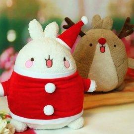 可愛萌寵Molang土豆兔公仔情侶聖誕毛絨玩具生日 女