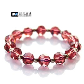 明星店鋪 瘋價 正品天然紫紅水晶 手鏈女 鑽石切割工藝