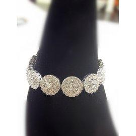MISS J 韓國白金 瑞士鑽石鑲嵌圓形鋯石精致手鏈女高檔飾品