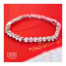 宣妮滿鑽鑽石鑲嵌細巧精致手鏈奧地利 水晶鍍金防過敏不褪色女