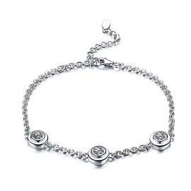 T家ElsaPeretti鑽石手鏈女士 手鏈手環1鑽3鑽30分90分鑽石手鏈