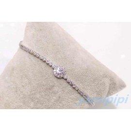 單鑽 排鑽 鑽石 氣質款 手鏈 2014 ^~