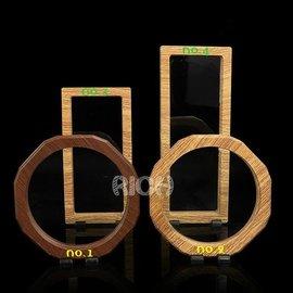 高檔木紋懸空玉器展示道具 珠寶首飾展示架項鏈手鍊手串 玉石鑽石 項鏈相框展示底座 1 2號