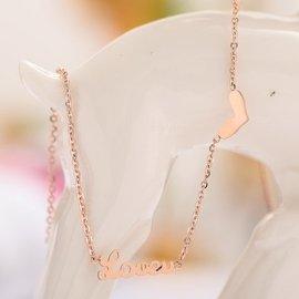 曼loveu心形腳鑽女款腳環 飾品生日520 鍍18K玫瑰金 女士