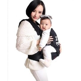 我愛媽媽 透氣純棉多 寶寶腰凳單嬰兒背帶雙肩抱嬰韓國