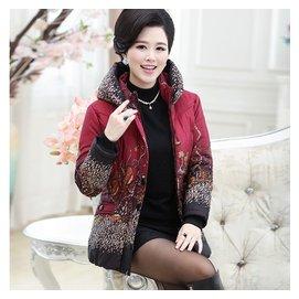 中老年女裝媽媽裝冬裝羽絨服棉服加厚老年人外套保暖棉襖大碼棉衣