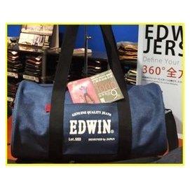 7~11 EDWIN 大圓筒包 淺藍款^(另售 BEAMS 兩用包 側背包 斜背包 手提包