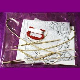 傳統濰坊風箏 DIY風箏材料包 傳統風箏 竹風箏 繪畫風箏 風箏