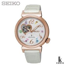 SEIKO SSA840J1~LUKIA 系列 林依晨 款~35mm 開心鏤空機械錶x玫瑰