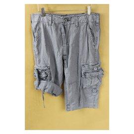 外貿原單美國大牌男士多袋棉麻 滑板 中褲短褲五分褲 挽邊