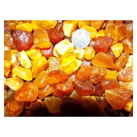 純天然波羅的海丹麥琥珀蜜蠟原石手鏈手串吊墜珠子料1~5克小料
