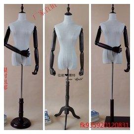 模特道具女半身包布服裝店婚紗模特展示衣架人台假人實木復古