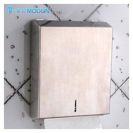 莫頓 掛壁式不鏽鋼衛生間紙巾盒防水手紙箱抽紙架擦手紙盒 ~5821不鏽鋼