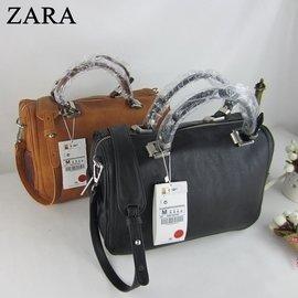 ZARA女包方形保齡球包手提包  撞色大容量枕頭斜 單肩包
