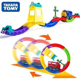 多美卡 恰恰特快車 電動軌道小火車套裝 兒童男孩玩具車