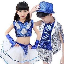巴黎足印 少兒 舞蹈爵士舞演出服男童街舞錶演服