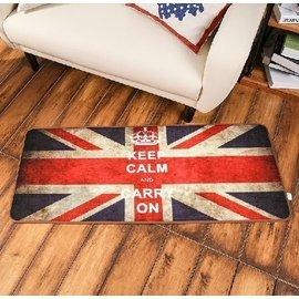 金典 英倫風米字旗英國旗長條臥室 床邊 地毯 廚房地墊 門墊地墊長方形 複古做舊