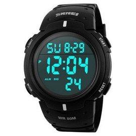 時刻美 商務大數字多 LED男士電子錶防水游泳戶外 手錶