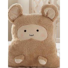 可愛小熊暖手捂倉鼠暖手抱枕午睡枕靠枕女生 布娃娃毛絨玩具