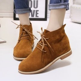 馬丁靴潮女短靴秋 平跟短筒靴子英倫粗跟平底