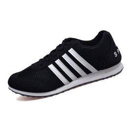 2015夏 男士 透氣鞋 跑步滑板學生男鞋子 帆布鞋潮板鞋8145 女段黑色 37 大一碼
