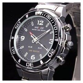 潛水遊泳夜光男表多 特種軍表防水鋼帶男士手表正品