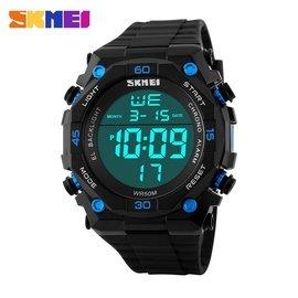 時刻美大數字多 電子表 潮流防水游泳夜背光男士戶外 手表