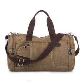 男士包袋帆布包 健身單肩包手提包斜 包男包旅行包 圓筒包