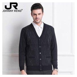 中老年開衫男加絨加厚羊毛衫 中年男士外套V領大碼針織毛衣爸爸裝