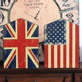 雜貨 英倫風仿舊米字旗美國旗 壁掛鑰匙盒 鄉村風木製仿舊 房屋裝飾鑰匙櫃 好感裝飾 民宿咖
