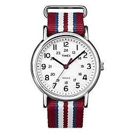 Timex Unisex T2N746 Weekender Slip Thru Red W