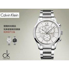 CK 清新簡約風格腕錶 Chronograph 42mm WH 瑞士製 Calvin Kl