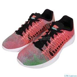 ~買鞋送襪~Nike Wmns Lunaracer 3 黑 白 彩虹 漸層 飛線 路跑 輕