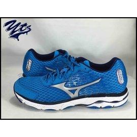 ~買鞋送襪~Mizuno 美津濃 WAVE INSPIRE 11 男鞋 慢跑鞋 藍 輕量
