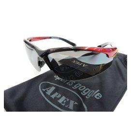 品牌APEX 908 黑 紅 鏡架可伸縮 防彈級 太陽眼鏡 防風眼鏡 抗UV400 棒壘