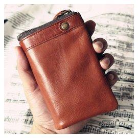 TOUGH風15 16復古牛皮 男士錢包真皮女士皮夾短款帶零錢包財布
