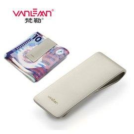 Vanlemn金屬零錢夾商務不鏽鋼零錢包正品  簡約男士鈔票夾