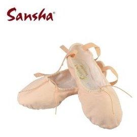 正品法國三沙 兒童芭蕾舞鞋 軟底 舞蹈鞋練功鞋 貓爪鞋 女童