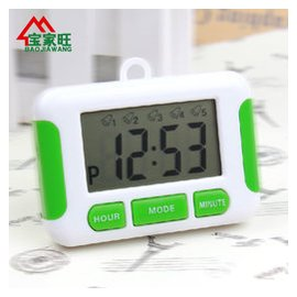 電子鬧鐘 5組鬧鈴 倒計時器 廚房定時器 提醒器 多組鬧鐘