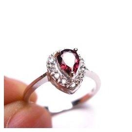 秒殺!巴西專櫃正品全紅色碧璽戒指 寶石級戒面 顏色艷麗