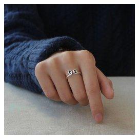 緊箍咒戒指純銀開口女對戒 925日韓生日孫悟空簡約飾品大聖指環