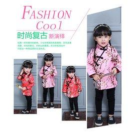 中國民族風女童春秋裝兒童旗袍上衣長袖外套小女孩唐裝寶寶演出服